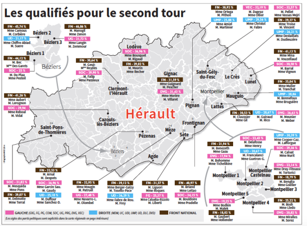 Carte publiée dans Midi Libre (23 mars 2015)